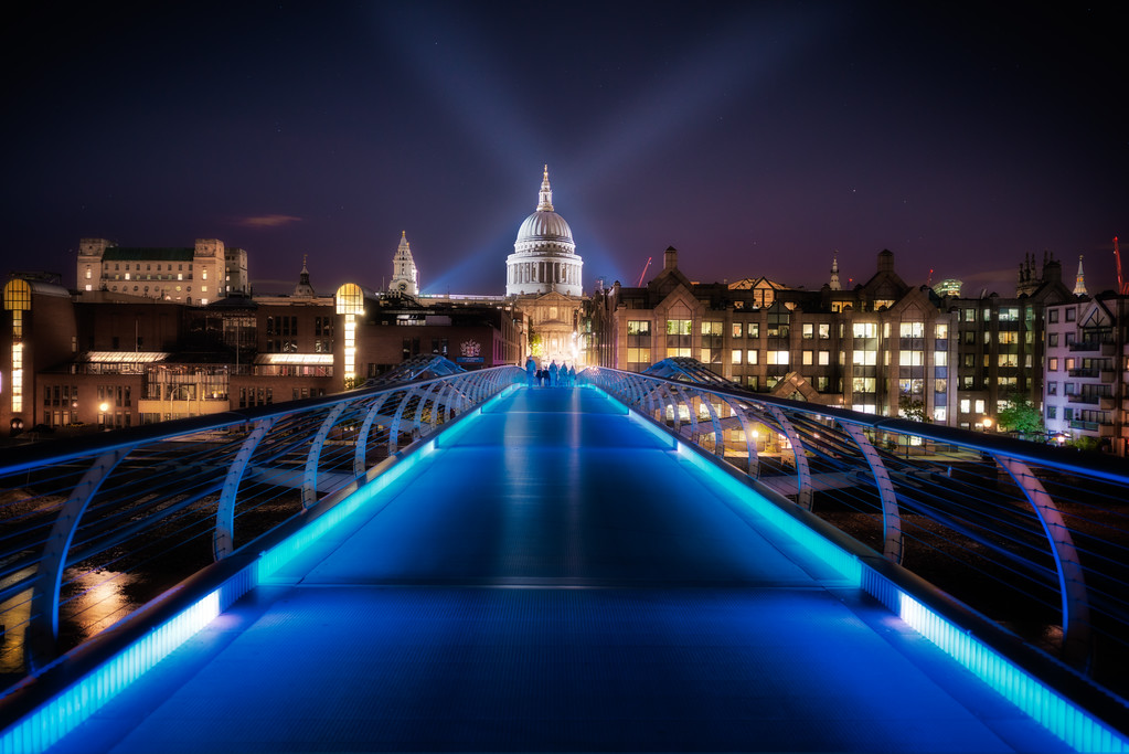Millenium Bridge and Sct Pauls