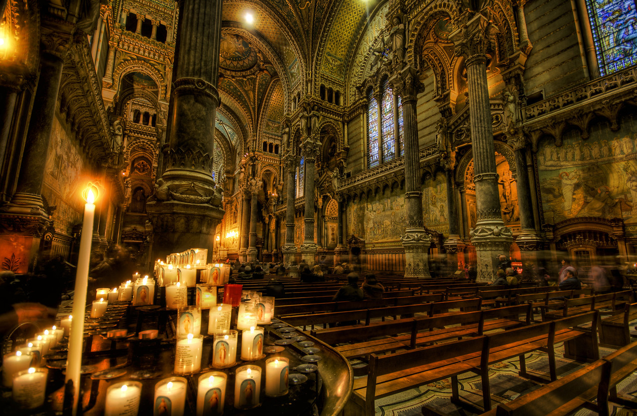 A Votive in the Dark Cathedral I love a scary cathedral.  They can put you in such a melancholy and gloomy mood if you want them too.  You can feel the overbearing saints from above judging your moves, and giving you a few bonus points in the big game if you light one of the votives.  In a scientific study, it was proven than a votive makes a prayer 35% more likely to be granted.- Trey RatcliffClick here to read the rest of this post at the Stuck in Customs blog.