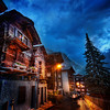 "<h2>The Streets of Zermatt</h2> After dinner one evening, I went out with my iPod to explore the streets alone.  There was a light cool rain, but it didn't bother me a bit.  It added to the mood and everything felt great.  The warm cabins, the cool sky, the wet streets, people hurrying to and fro to get warm food and drinks...  I do my best to capture this feeling all in one image.  - Trey Ratcliff  See the rest of this blog entry <a href=""http://www.stuckincustoms.com/2011/08/24/the-streets-of-zermatt/"">here</a> at stuckincustoms.com."
