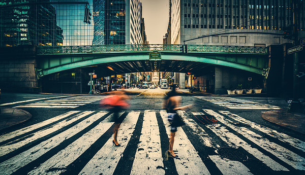 "Crossing the Street in New York City This photo was taken very nearby the Grand Central Station photo I posted a few days ago. In fact, I think it's just one block south!While I was taking this, a gentleman-fan of the blog was giving me ""that look"". After I was done taking the photo, I beckoned him over to say hello! He was very nice and we had a nice little talk. So, if you ever find yourself in this situation, just come over and say hello – I'm happy for it!- Trey RatcliffClick here to read the rest of this post at the Stuck in Customs blog."