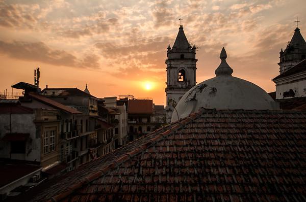 Casco Veijo at sunset