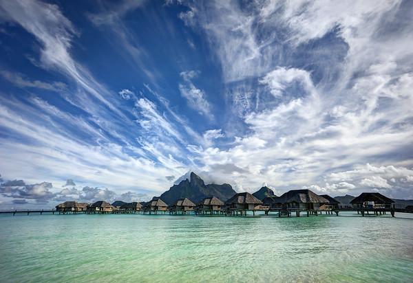 Wild clouds in Bora Bora