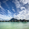 Wild clouds in Bora Bora