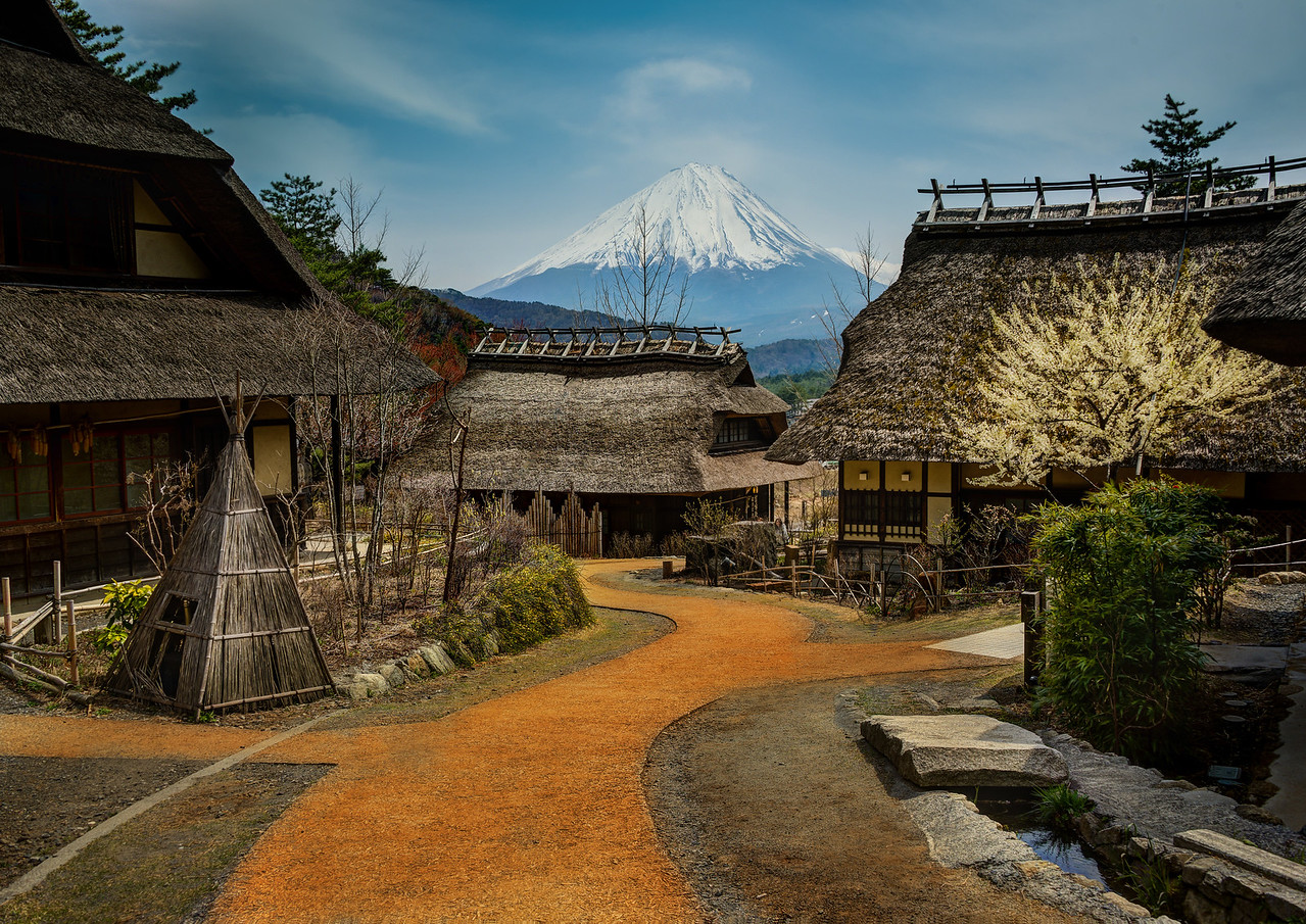 Approaching Mount Fuji from the Old Village What a perfect place this is!I've been to Japan many times, but I never had the chance to visit Mt. Fuji! This time, Tom and I made a point to do it, and this was one of our fist stops. You can see much more about it in the video above!- Trey RatcliffClick here to read the rest of this post at the Stuck in Customs blog.