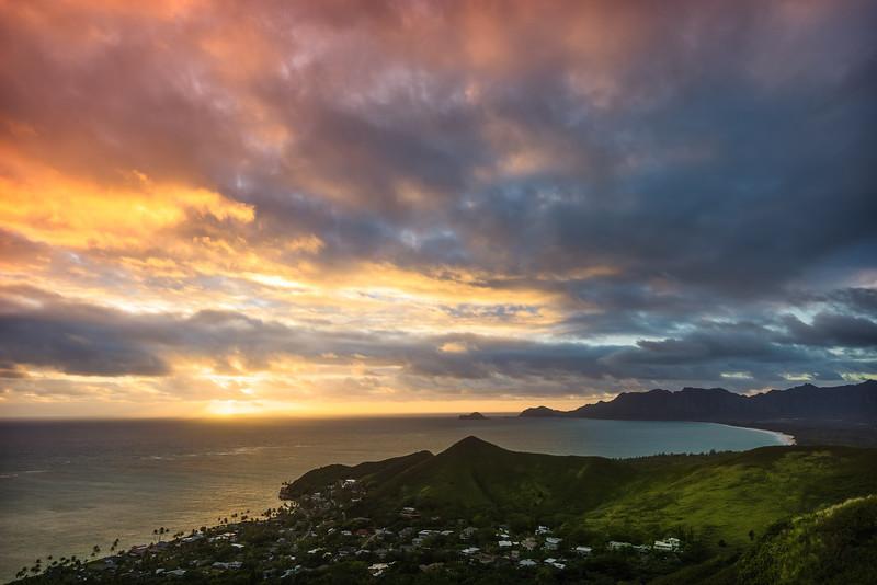 Burning Sky Over O'ahu (Hawaii)