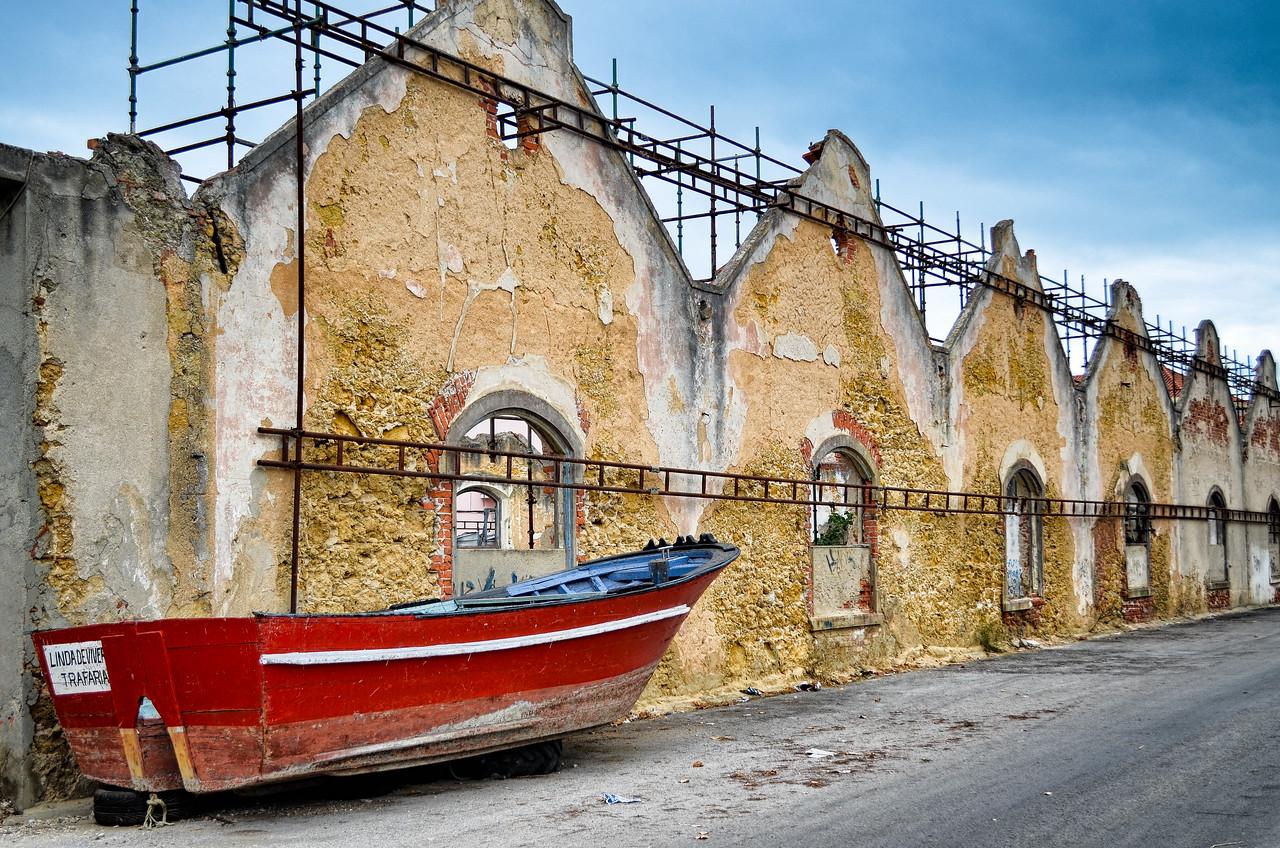 Fishing boat, Trafaria, Portugal