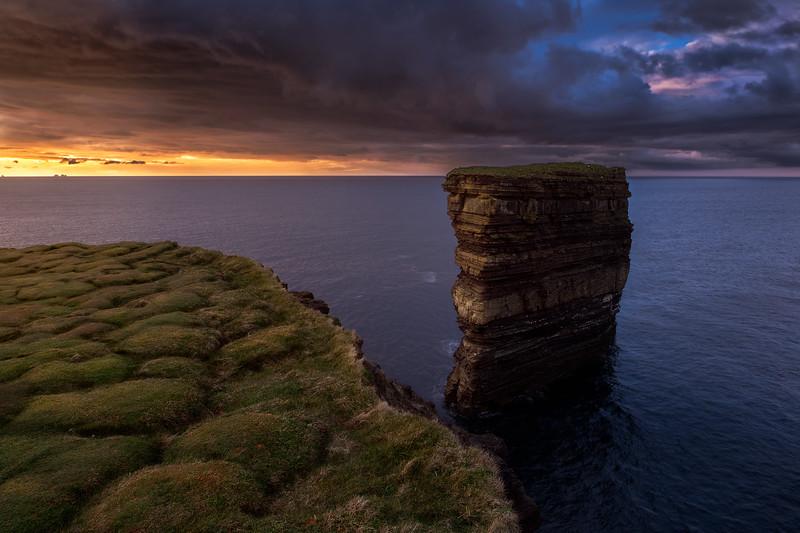 Downpatrick Head at Sunset