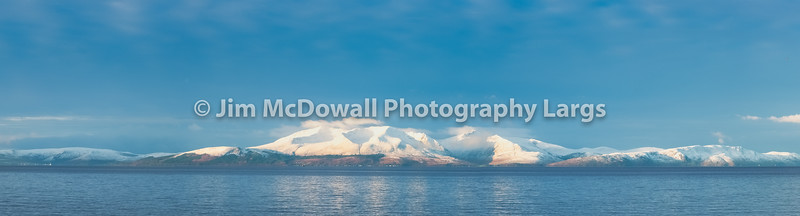 Winter on Arran in Scotland with First Signs of Snow