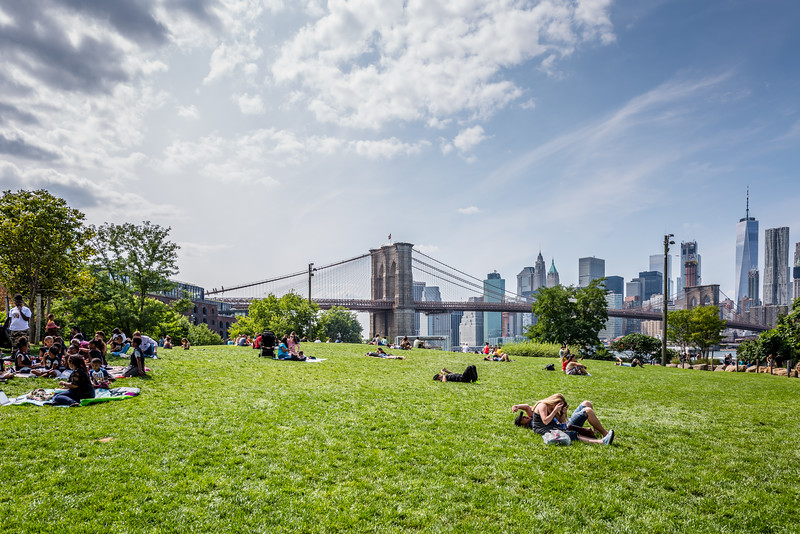 Brooklyn Bridge Sunbathers