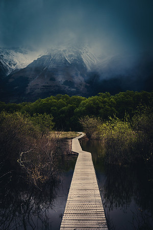 The Walking Path in Glenorchy This is a new walking path that has just been built through the woods and wetlands of Glonorchy. As far as I know, it is pretty rare to have wetlands so close to towering mountains, isn't it? I suppose I always think of the wetlands in flat areas, like Louisiana and places like this.There are a few different routes to take. Some take just an hour, and others take a few. I want to go back to this area with some more time!- Trey RatcliffClick here to read the rest of this post at the Stuck in Customs blog.