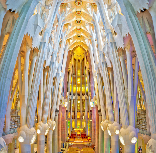The Papal Area Of La Sagrada Familia