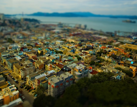 The Mini-Land of San Francisco Everyone always seems to like San Francisco, eh?  It's one of those places that people either have fond memories of, or an ongoing feeling like they need to go there.I know some photographers are probably familiar with this tilt-shift type of shot.  For those of you not familiar with it, there is a way to take photos and convert them into something that looks like a miniature.  You can do it in-camera with a certain kind of lens, or afterwards with some post-processing.  I don't do a lot of tilt-shift stuff, but I thought I would share this one!- Trey RatcliffClick here to read the rest of this post at the Stuck in Customs blog.