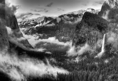 Yosemite Valley Tunnel View after a clearing storm