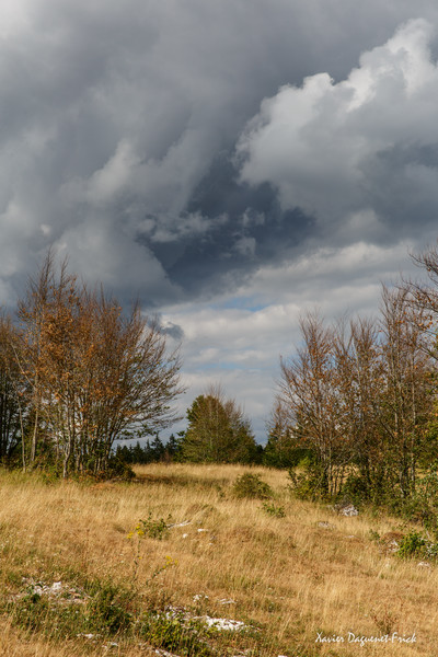Pending storm on the French Jura plateau...