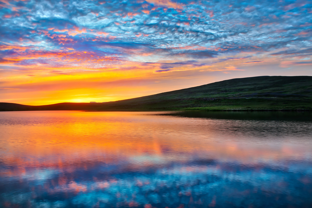 A Sunset In Iceland