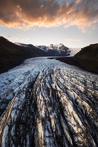 Above a Glacier in Iceland