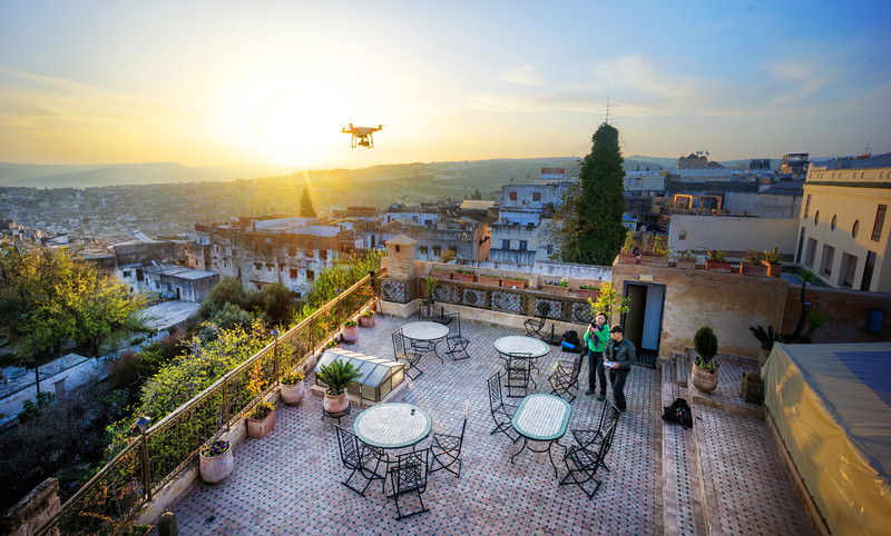 Quadcopter Over Fes
