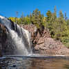 Pouring Water Over Gooseberry Falls