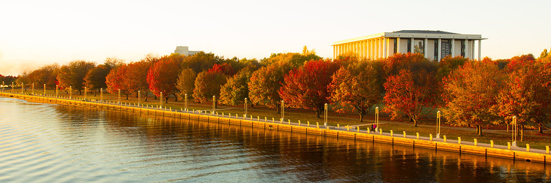 Autumn colours on Lake Burley Griffin, Canberra