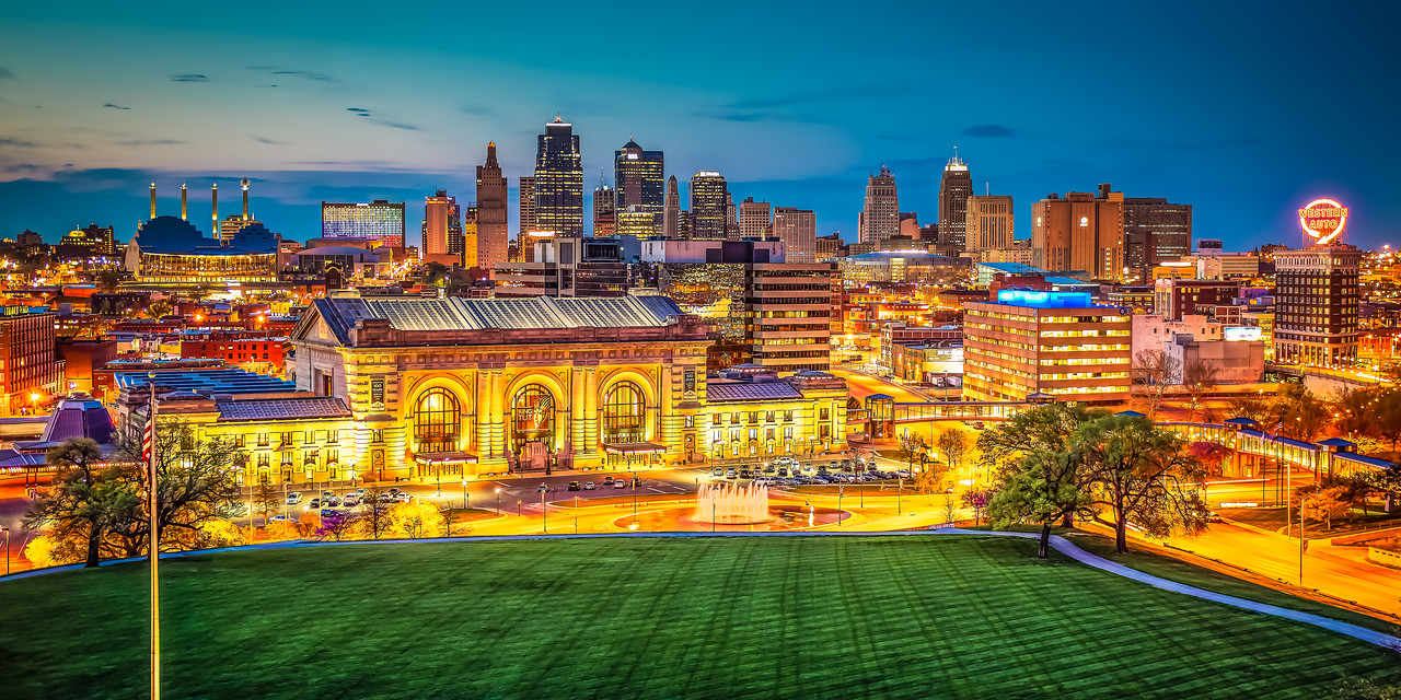Kansas City Skyline Night
