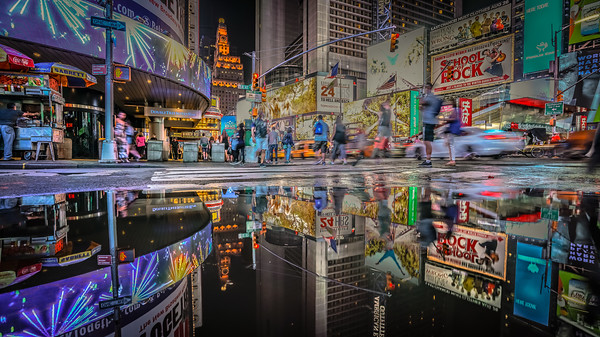 Double Time in New York City - Times Square