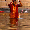 MORNING AT THE GANGES RIVER. VARANASI. BENARES. UTTAR PRADESH. INDIA.