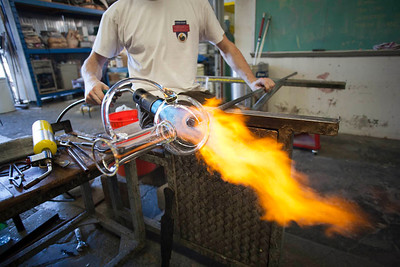 Ohh yea, glassblowing!