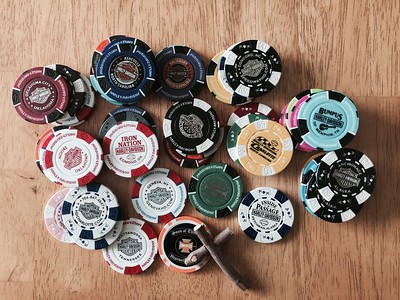 Poker chips from many of the Harley-Davidson shops we stopped at along the way.