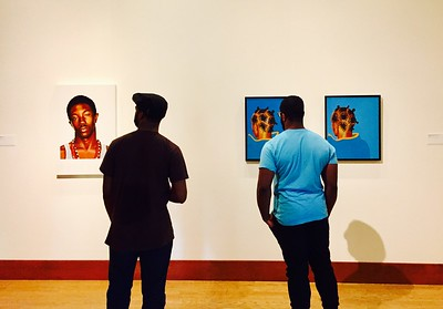 Viewing the work of American painter Kehinde Wiley, OKCMOA.