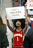 During the Atlanta Hawks last home game of the season against the Miami Heat, Emilda Wong, 29, of Inman Park, shares her optimism for next season Tuesday, April 18, 2006.  Hawks win 103 - 100, doubling their number of wins from 2005.