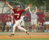 Lassiter High School's Adam Baker hits a homerun in the 11th inning winning the first game of a double header against Lowndes High School during the semifinals on Monday, May 29, 2006.  Lassiter won 7-6.