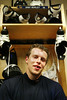After pratice at the Duluth Ice Forum, Atlanta Thrasher Dany Heatley cools down in the locker room Thursday, Aug. 28, 2003.