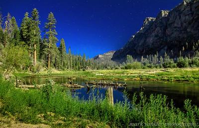 Moonlight and Stars -- 25 second exposure