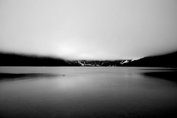 Low Clouds at Cameron Lake