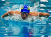 Brandon Cu from Gaithersburg High School in the 100 yard butterfly event. He finished 3rd with a time of 49.85.