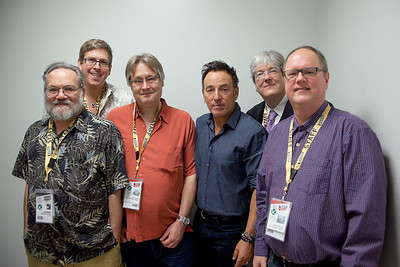 Bruce Springsteen with SXSW staff