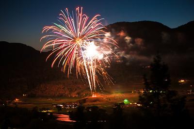 Fireworks over the Rio Grande Club in South Fork, Colorado