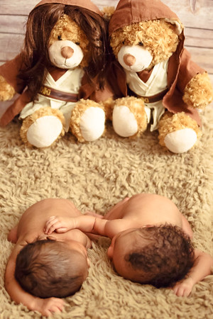 Aria, Carter + Alia & Chris Mccants - Twin Newborn Photography