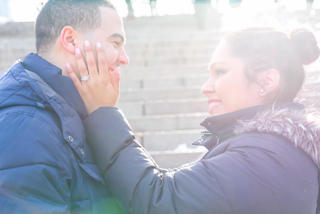 Olga + Juan Carlos Proposal + Engagement Session | Bethesda Fountain, Central Park, NY