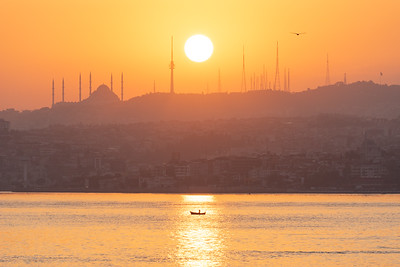 Sunrise over the Bosphorus