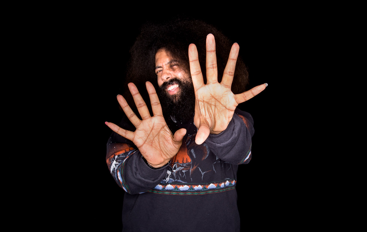 Reggie Watts visits AOL Hq for Build on May 29, 2015 in New York. Photos by Noam Galai
