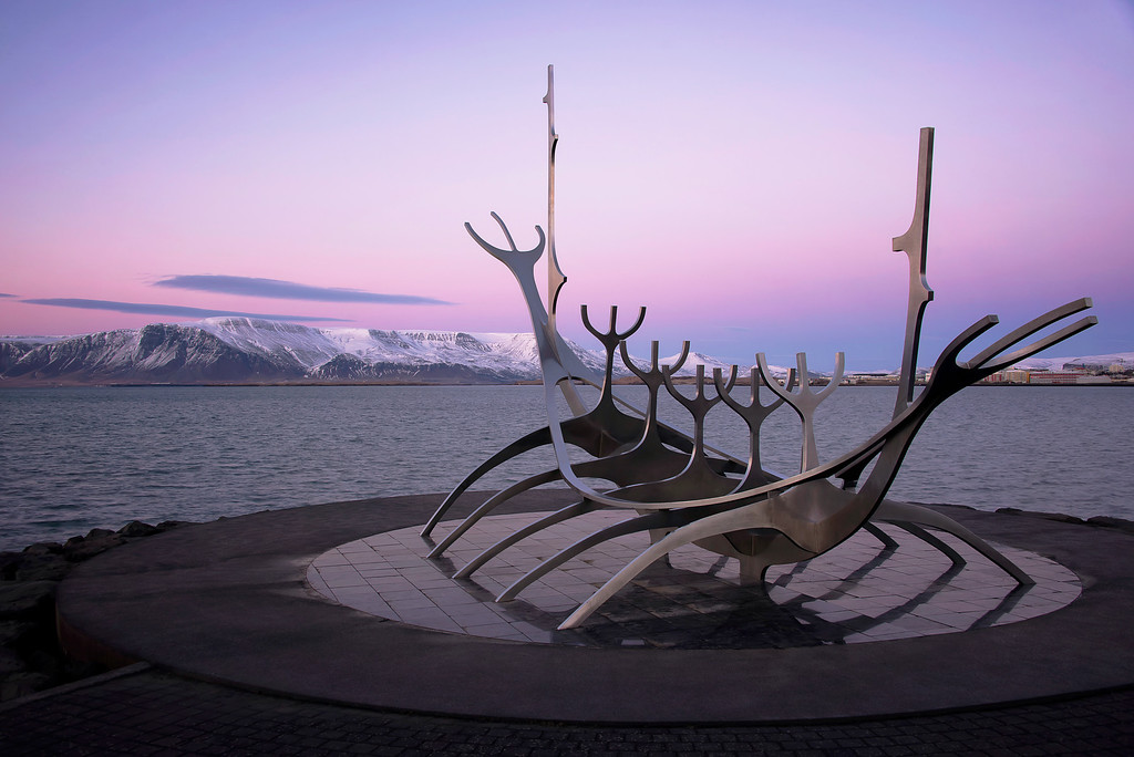 Photograph: Sun Voyager - The Sun Voyager sculpture in Reykjavik, Iceland.