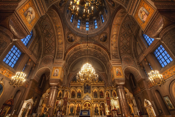 Photograph: The Secret Door - HDR interior photograph of Uspenski Cathedral in Helsinki, Finland.