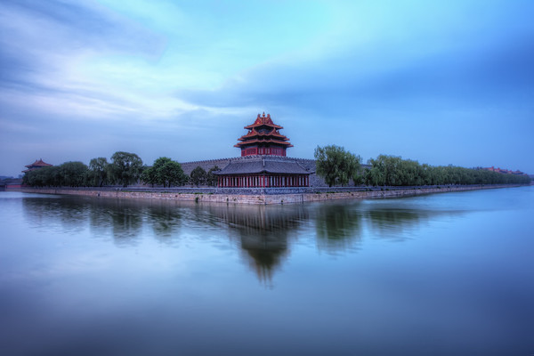 Photograph: The Forbidden City - Fine art, blue hour sunrise photograph of The Forbidden City in Beijing, China.