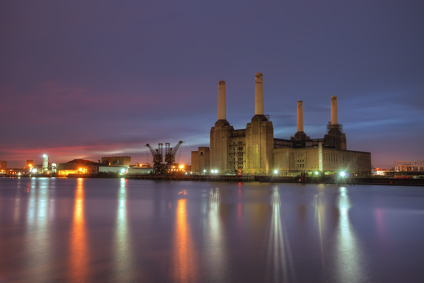 Photograph: First Sun - The first glimpse of light at sunrise behind one of London's most iconic buildings; Battersea Power Station.