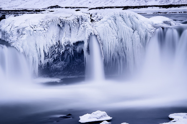 Photograph: The Frozen Teeth of Godafoss - Long exposure of a frozen Goðafoss in northern Iceland.