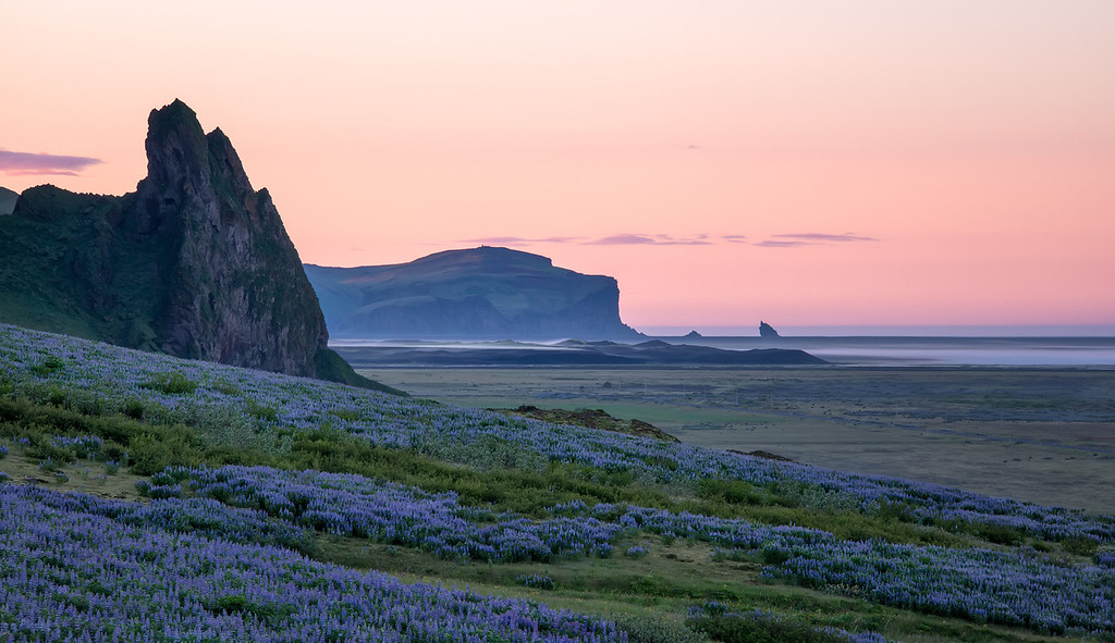 Photograph: Midnight Coast - Midnight sun on the south coast of Iceland near Vik.