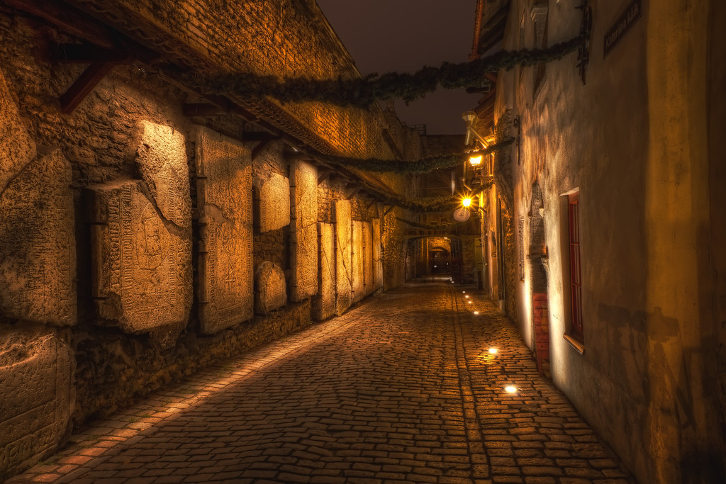 Photograph: St Catherine's Passage - Atmospheric shot of St Catherine's Passage in Tallinn, Estonia.