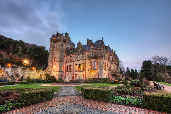 Photograph: Belfast Castle - Dusk shot of Belfast Castle in Northern Ireland.