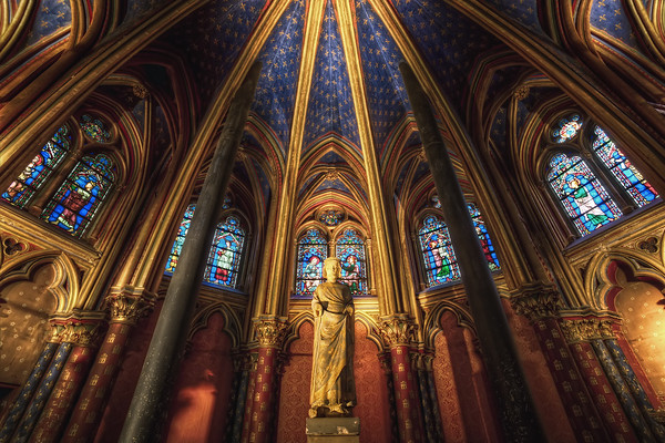 Photograph: Lower Chapel - HDR shot of Sainte-Chapelle's lower chapel in Paris, France.